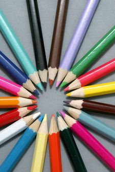 Free Colored Pencils Stock Image - 9491251