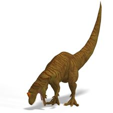 Free Giant Dinosaur Allosaurus With Clipping Path Over Royalty Free Stock Images - 9491359