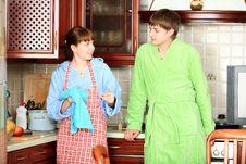 Free Talking On A Kitchen Stock Photos - 9491593
