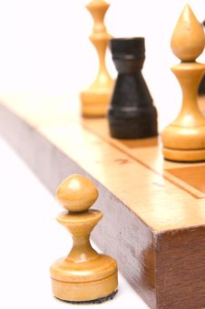 Free Chessmen On A Chessboard Stock Photos - 9492533