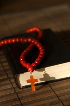 Free Bible With Red  Cross Stock Photo - 9492540
