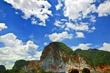 Free Marble Quarry And Blue Sky Royalty Free Stock Image - 9492786