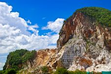 Free Marble Quarry And Blue Sky Stock Image - 9492811