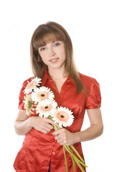 Free Beauty Lady With Flowers Royalty Free Stock Images - 9492979