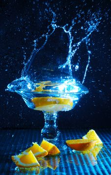 Free Orange Splash Royalty Free Stock Photos - 9493548