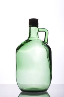 Free Empty Green Bottle Stock Photography - 9494492