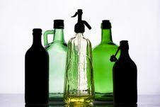Set Of Bottles Stock Photos