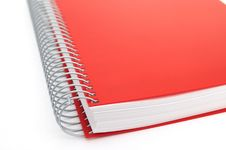 Free Red Notebook Royalty Free Stock Photo - 9494535
