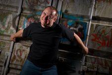Powerful Man Expression Portrait Stock Image