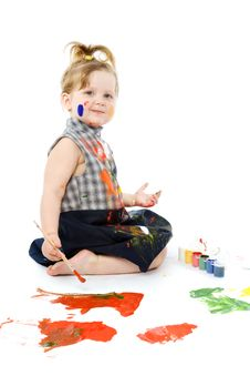 Free Cute Baby Paintings Stock Image - 9495421