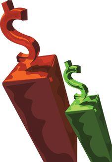 Free Money Graph Stock Photography - 9495472