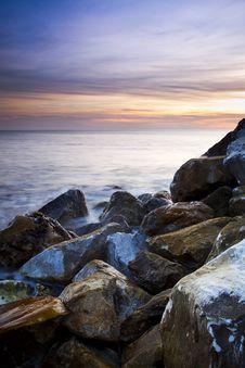 Sunset At Coast Stock Image