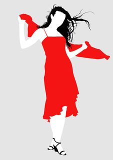 Free Girl In Red Royalty Free Stock Photos - 9496598