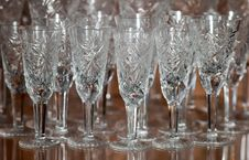 Crystal Glasses Stock Photography