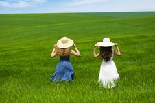 Free Two Friends Enjoying The Open Air Royalty Free Stock Photo - 9497925