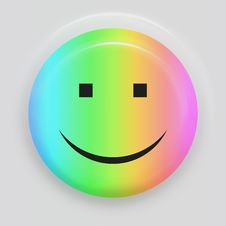 Rainbow Smiley Royalty Free Stock Photo