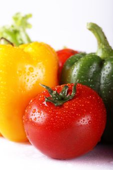 Free Tomato And Pepper Stock Image - 9498461
