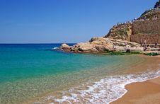 Beach In Tossa De Mar. Royalty Free Stock Photos