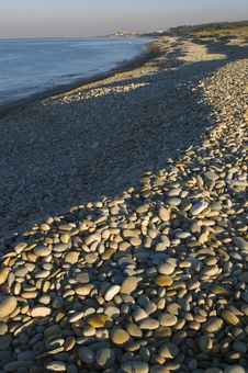 Free Stony Beach Royalty Free Stock Image - 9498586