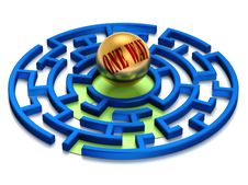 Free One Way Labyrinth. Stock Photo - 9498680