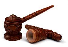 Free Wood Shaman Pipe For Hashish Smoke Royalty Free Stock Images - 9498709