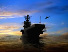Free The Military Ship Royalty Free Stock Image - 9498916