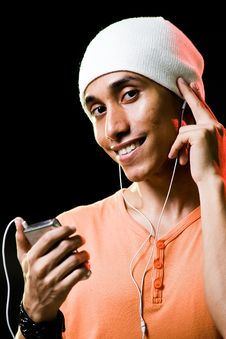 Free Asian Male Listening To Music Royalty Free Stock Images - 9498929