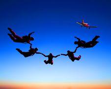 Free Sportsmen-parashutist Royalty Free Stock Images - 9498989