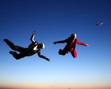 Free Sportsmen-parashutist Stock Image - 9499011