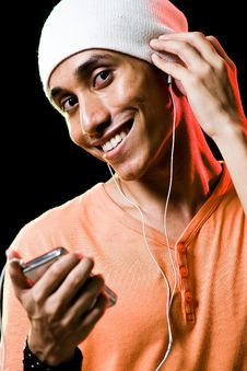 Free Asian Male Listening To Music Stock Photography - 9499102