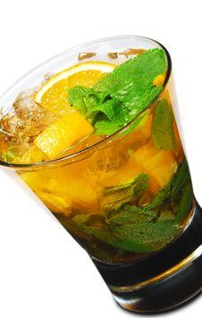 Free Cocktail - Orange Mojito Royalty Free Stock Photo - 9499265