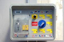 Car Wash System Panel Royalty Free Stock Image