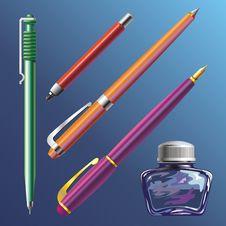 Free Pen And Ink-pot Stock Photos - 9499493