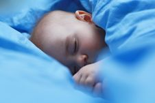 Cute Sleeping Baby Royalty Free Stock Images