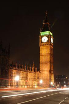 Free Big Ben At Night Scene Stock Image - 9499921