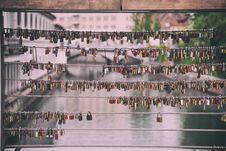 Free Locks Of Love On Bridge Stock Photos - 94983663