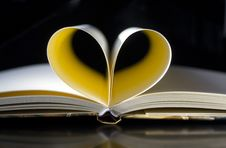 Free Pages Of Book Forming Heart Stock Images - 94983674