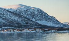 Free Village On Lake In Mountains Stock Photos - 94983703