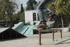 Free Skateboarder In Urban Park Royalty Free Stock Photo - 94983705
