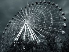 Free Ferris Wheel In Black And White Royalty Free Stock Photography - 94983707