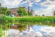 Free Barn Reflected In A Pond  Royalty Free Stock Photo - 94983755