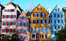 Free Colourful Apartments Stock Image - 94983781