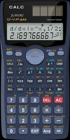 Free Solar Powered Electronic Calculator Stock Photos - 94983903