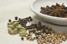 Free Spice Selection With A Boal Stock Photography - 950612