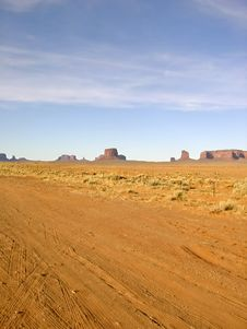 Monument Valley Dirt Road Stock Photos