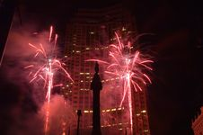 Free Downtown Fireworks. Stock Photos - 954193