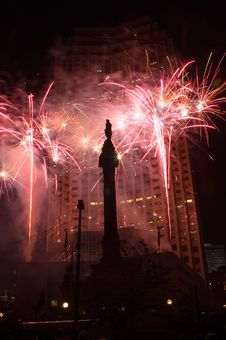 Free Downtown Fireworks Stock Images - 954204