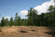 Picnic Tables In The Mountains Royalty Free Stock Images