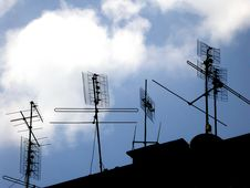 Free Transmitting Antennas Stock Photo - 956120