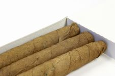 Cigarillos In A Box - Detail Royalty Free Stock Photography
